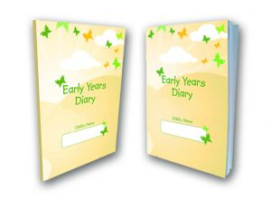 Butterfly Print Early Years Diary 2017