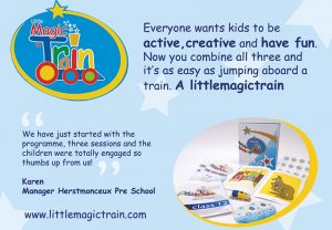 Butterfly Recommends: LittleMagicTrain. Everyone wants kids to be active, creative and have fun Now you combine all three and it's as easy as jumping aboard a train.1