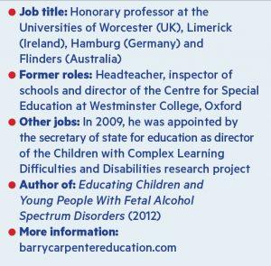 Professor Barry Carpenter CV
