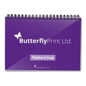 Butterfly Print Generic Visitors Log Book