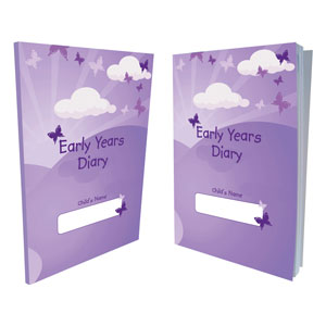 Butterfly Print Early Years Diary 2021