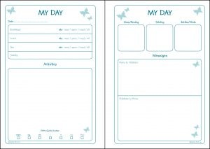 Early Years Diary Inner Pages