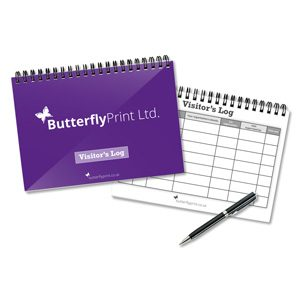 Butterfly Print Generic Visitors Books