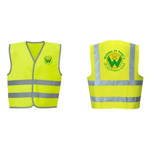 Butterfly Print Primary School Hi-Viz vests