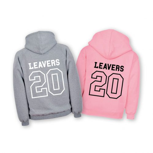 Leavers Hoodie in grey or pink