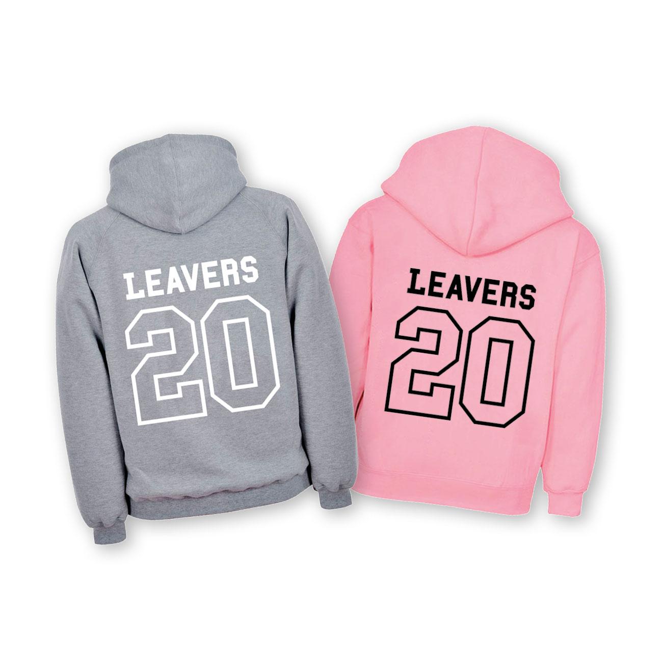 Leavers Hoodie in grey or pink