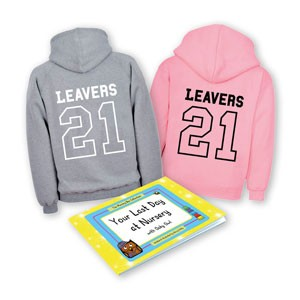 Early Years Leavers Gift Set with grey and pink hoodie