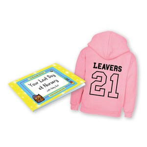 Early Years Leavers Gift Set with pink hoodie