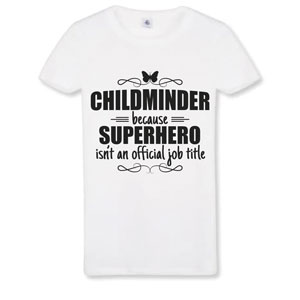 Butterfly Print Customised Childminder Superhero T-shirts