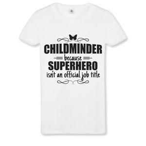 Butterfly Print Customised Childminder Superhero T-shirts