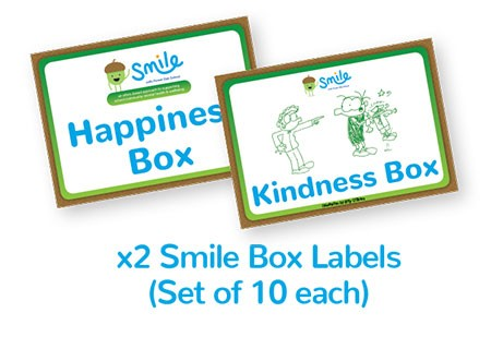 Smile Emotional Wellbeing Resource Kit: Set of 10 pairs of Happiness Box Labels