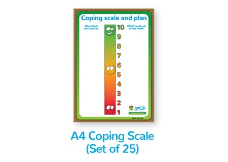 Smile Emotional Wellbeing Resource Kit: Set of 25 A4 Coping Scale posters