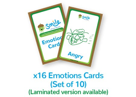 Smile Emotional Wellbeing Resource Kit: Set of 10 Emotions Cards Packs with 16 emotions in each pack