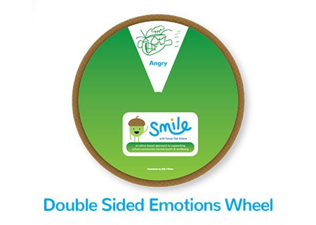 Smile Emotional Wellbeing Resource Kit double sided Emotions Wheel