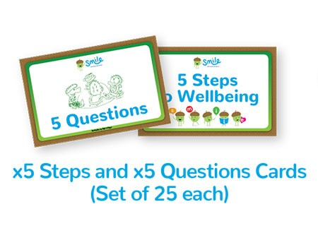 Smile Emotional Wellbeing Resource Kit: Set of 25 Five Steps and Five Questions Cards