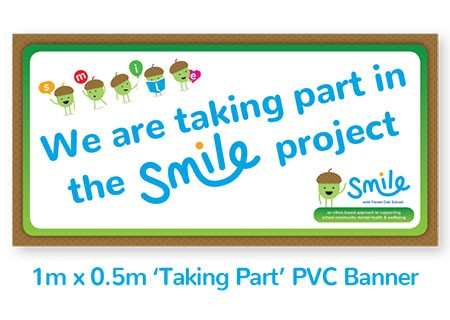 Smile Emotional Wellbeing Resource Kit: 1m Taking Part Banner for display outside school